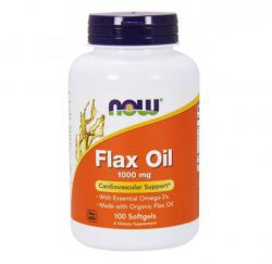 NOW Flax Oil Organic 1000 мг (100 кап)